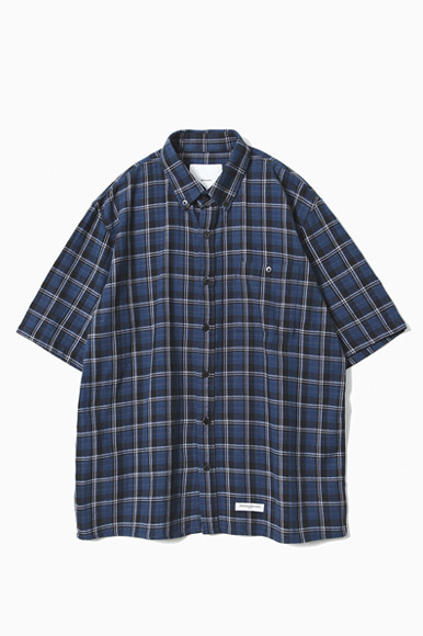 HBT Easy PK Check Short Shirts [Blue]