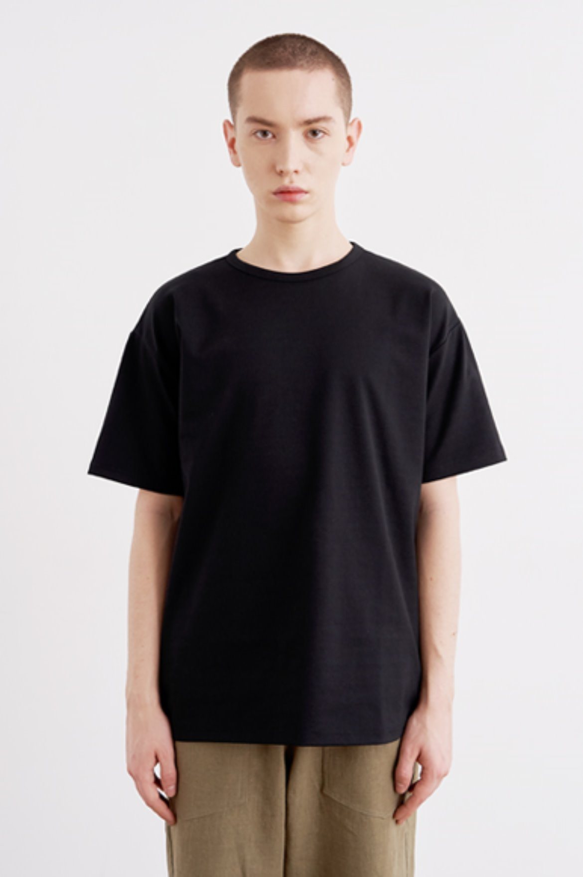 Cool Touch Regular Fit T-Shirts [Black]