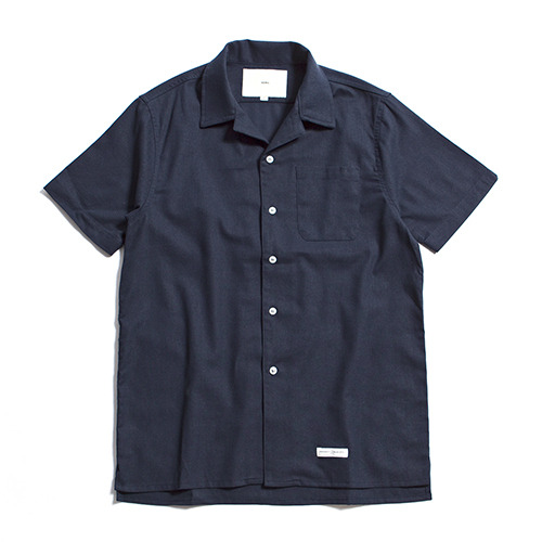 Hawaiian Linen Solid Shirts [Navy]