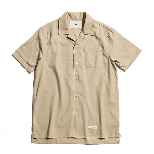 Hawaiian Linen Solid Shirts [Sand]
