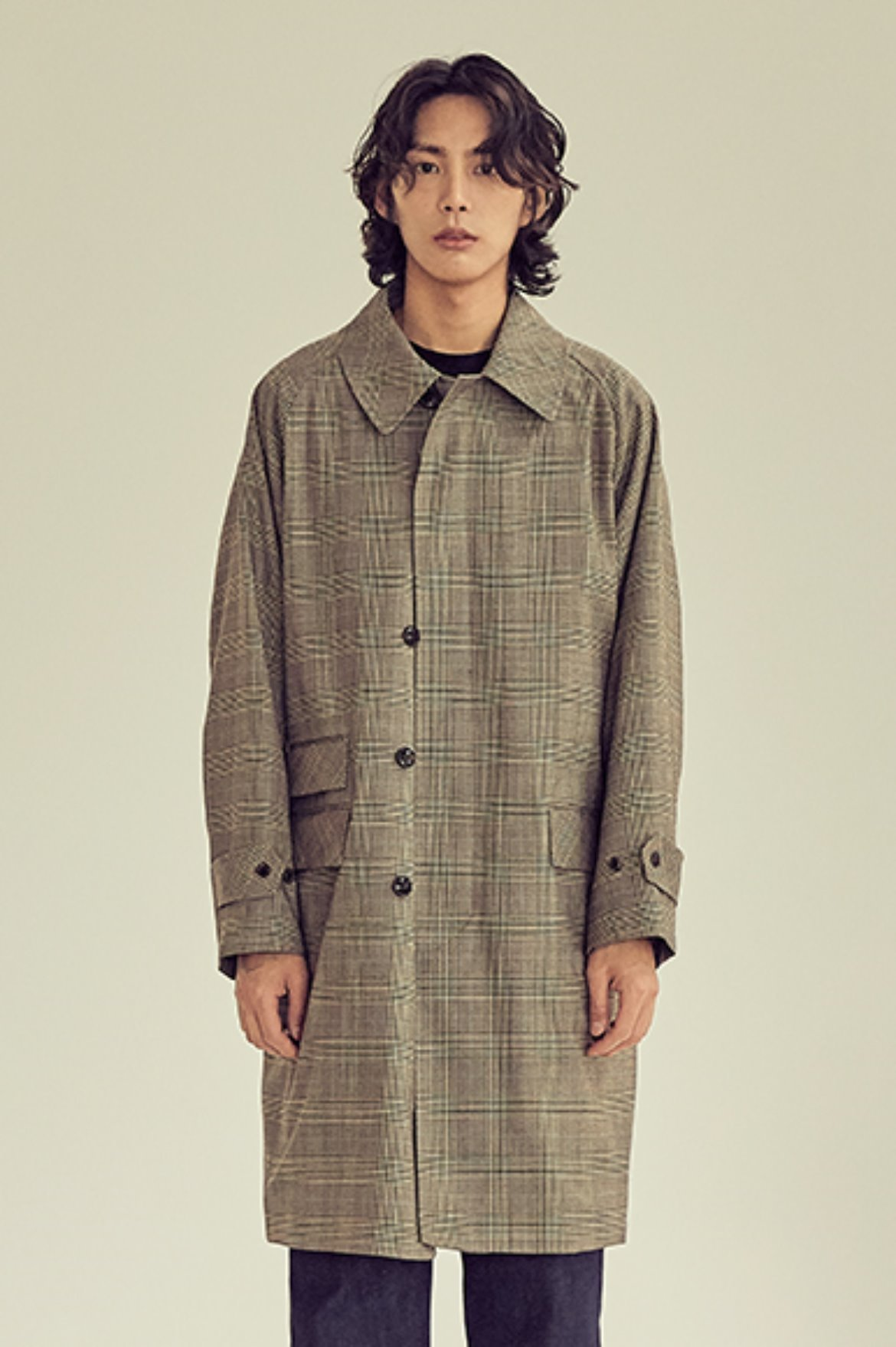 Glen Check Soutien Collar Coat