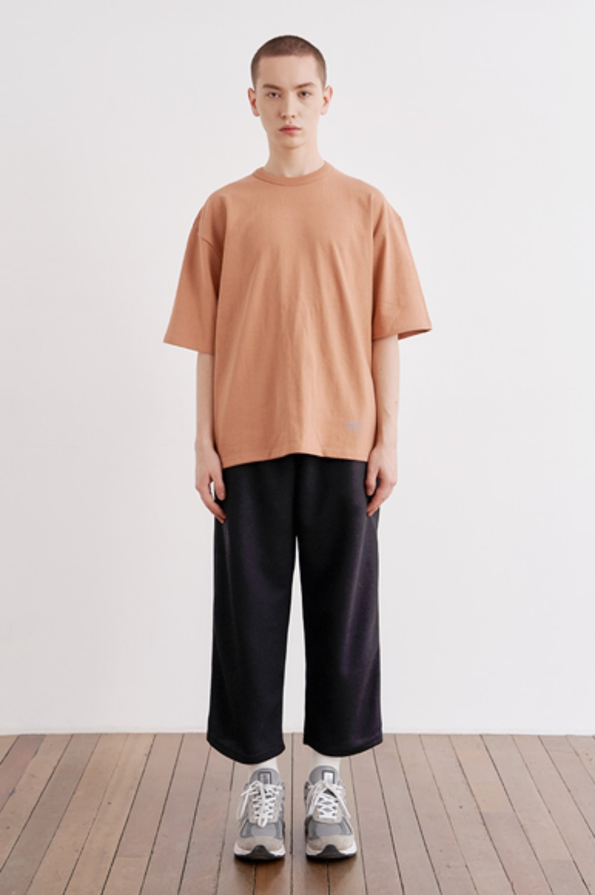 9/L Wide Cut Mesh Pants [Black]