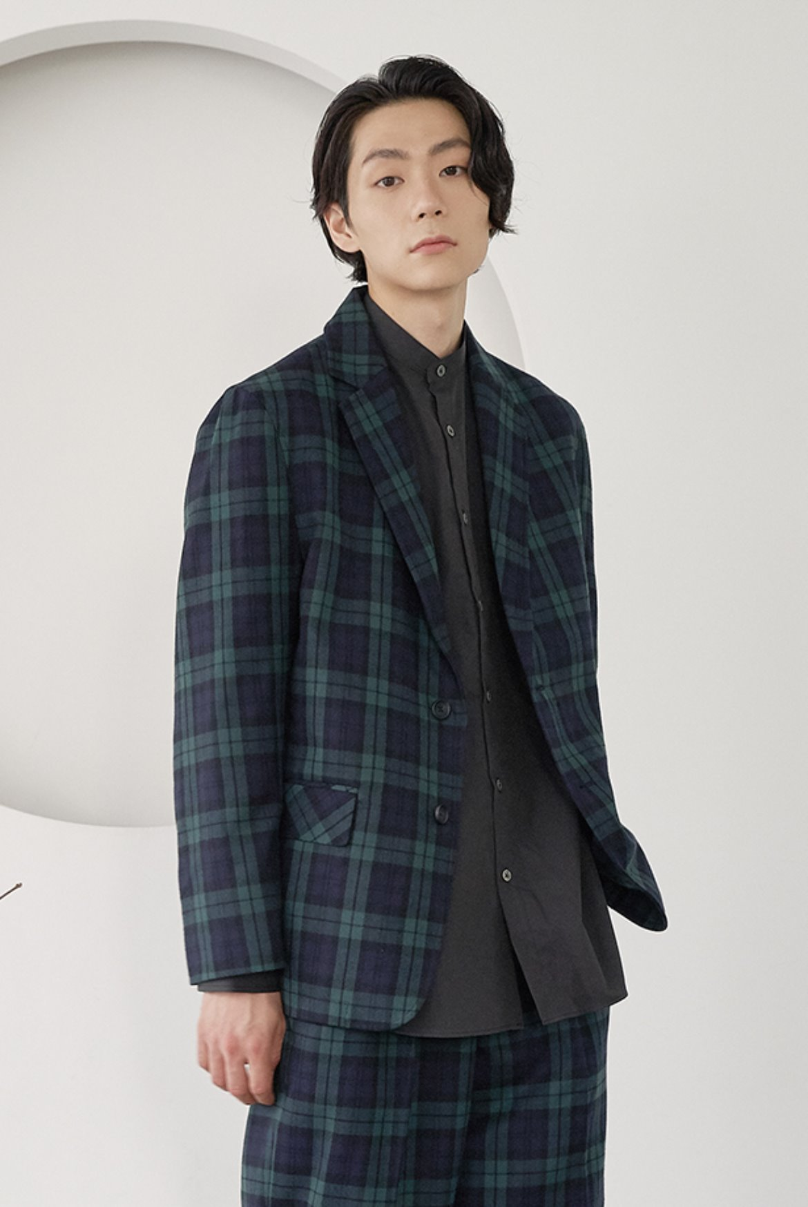 Formal Two Button Jacket [Black Watch]